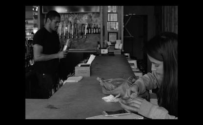 4. Vanessa enters the bar.