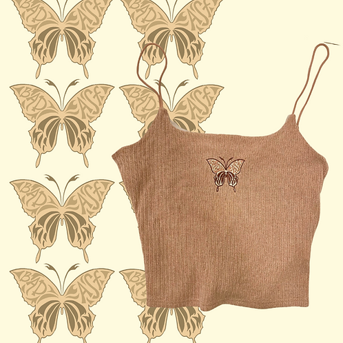 BAD ASF BUTTERFLY crop top