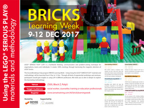 BRICKS Learning Week 2017 - Using the LEGO® SERIOUS PLAY® materials and methodology