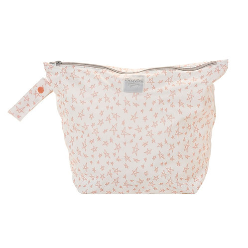 Zippered Wet Bag - Grapefruit Stars