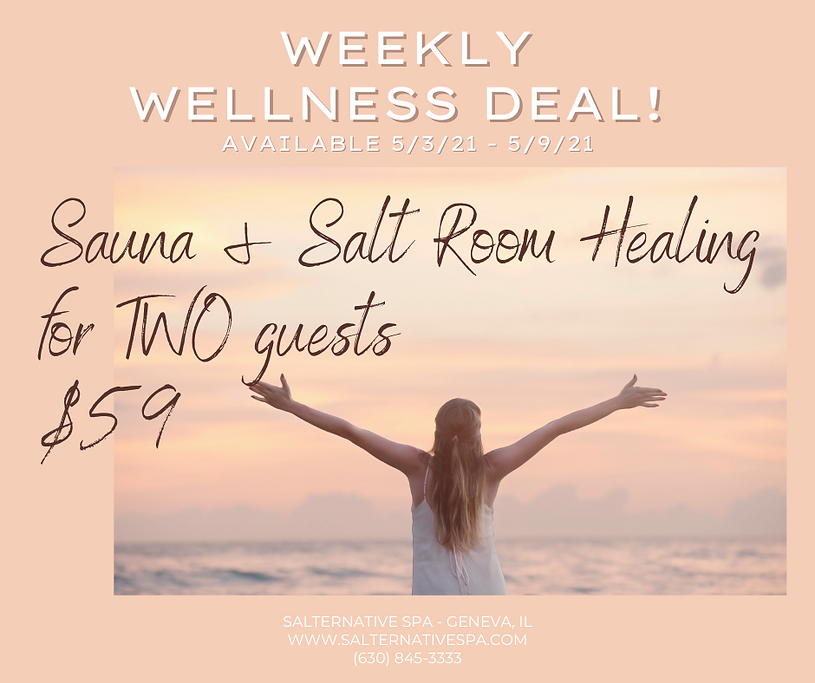 WWD MAY - Sauna and Salt for Two 5.3.21.