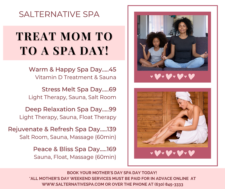 Mother's Day Spa Day Packages w Booking