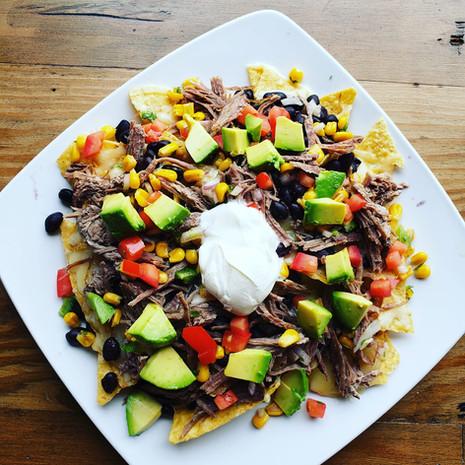 Our famous pile of nachos!