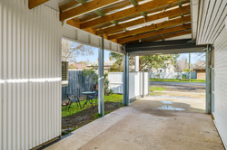 Secure undercover parking and garden area to relax in