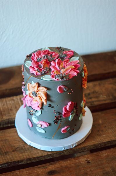 Palette Knife Flower Cake