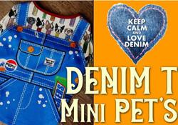 おうちで楽しく! LOVE DENIM T-SHIRT(Mini PET'S)