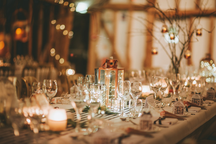 Candles table setting