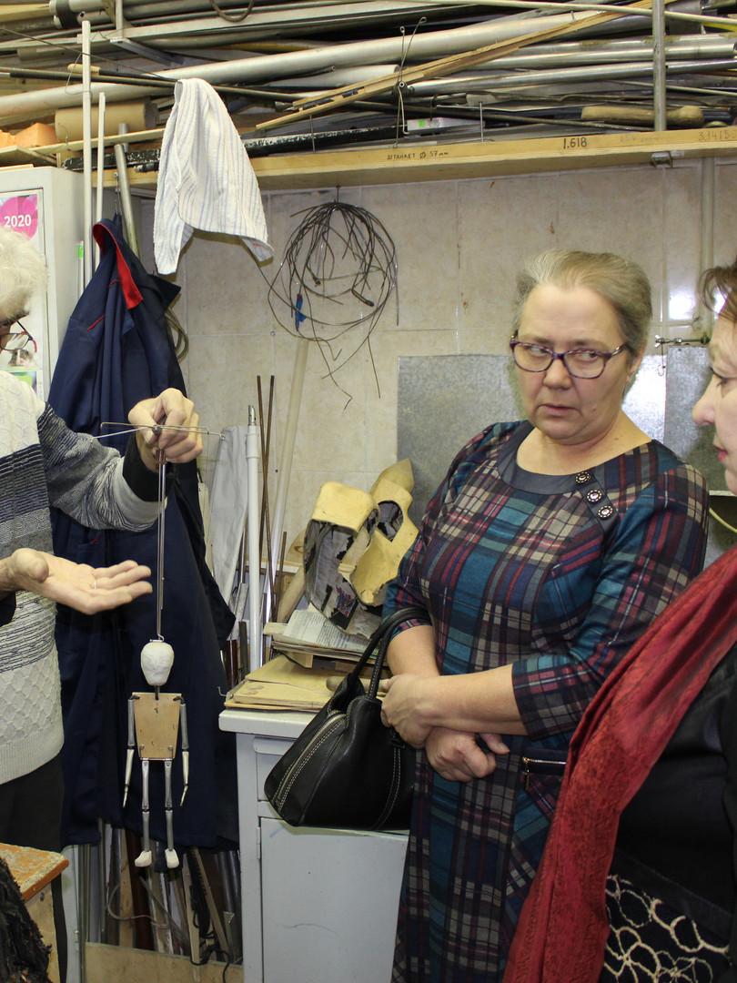 Посещение мастерской театра кукол Арлеки