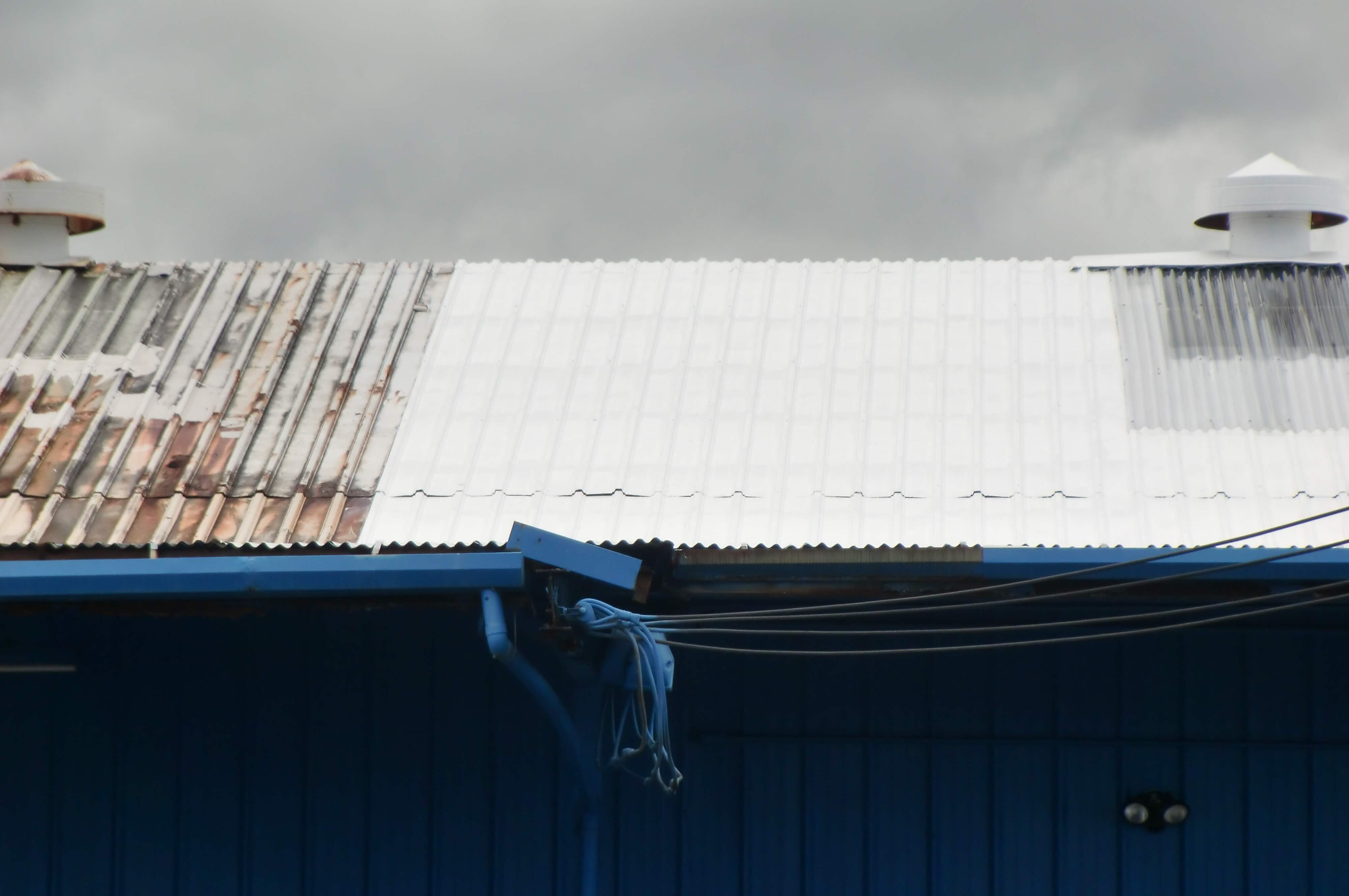 Corrugated roof restoration