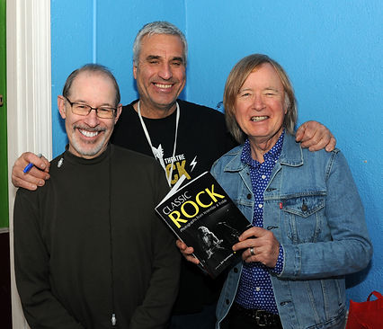 Mark Plotnick (left) and Jim Summaria (middle) with Kim Simmonds of Savoy Brown