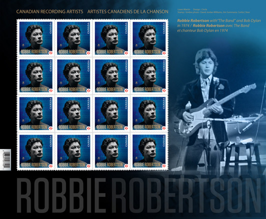 Robbie Robertson, Canadian Stamp Mailer