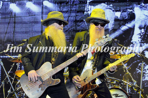 Dusty Hill & Billy Gibbons, Z Z Top, 2012