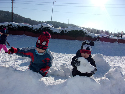 Krôsniãta i zimowe zabawy.