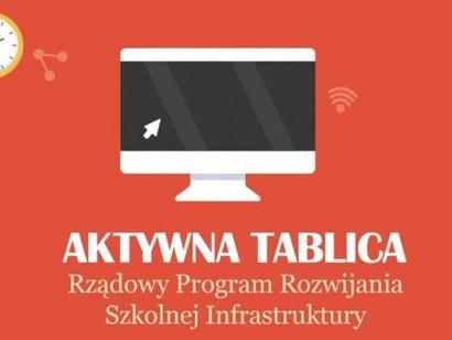 """Dofinansowanie z projektu """"Aktywna Tablica"""""""
