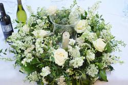 white hurricane vase table centre.JPG