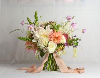 dahlia, rose, autumn peach coral bouquet.JPG