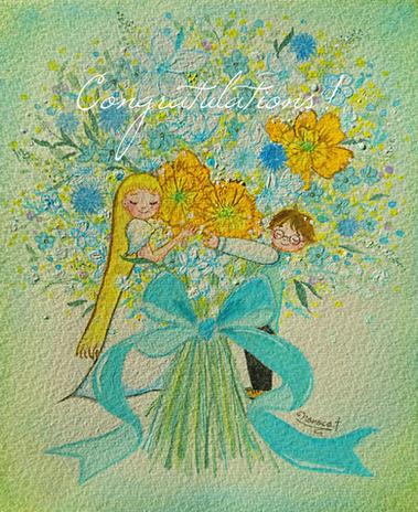 お祝いの花束(316コラボ商品ポストカード)