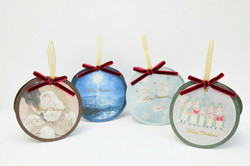 316×月玉子ののこ コラボ商品 オーナメント型クリスマスカード