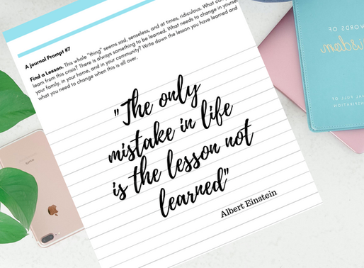 Journal Prompt #7 - Find a Lesson