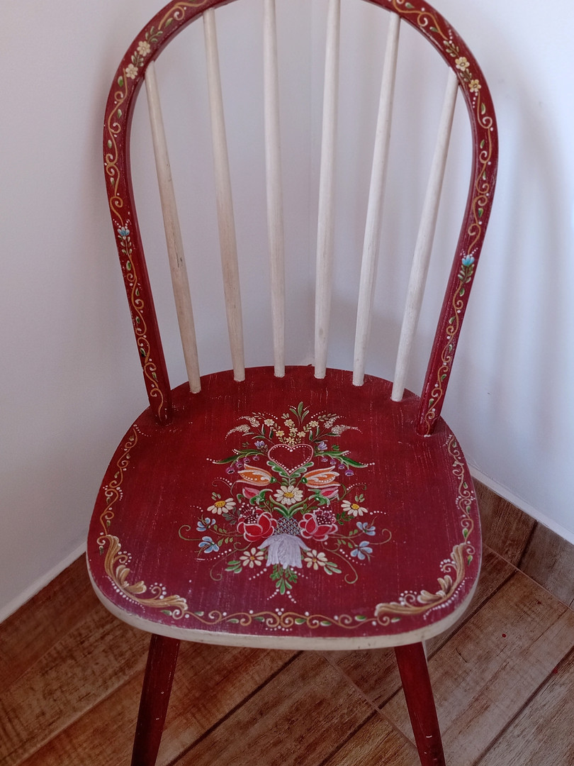 Cadeira Bauernmalerei