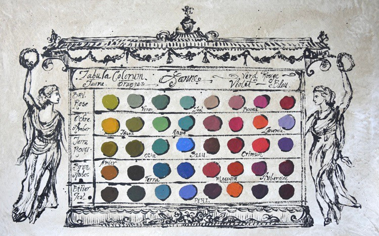 Artist Jennifer Lanne color swatch chart