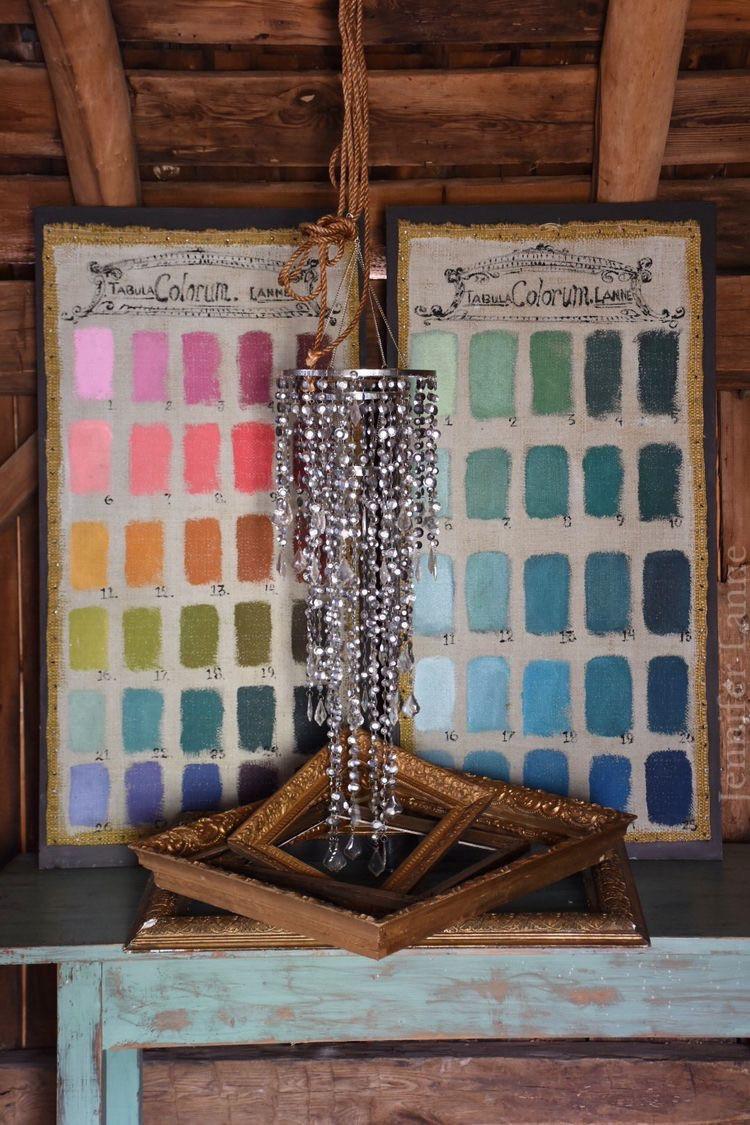 Artist Jennifer Lanne swatch paint charts
