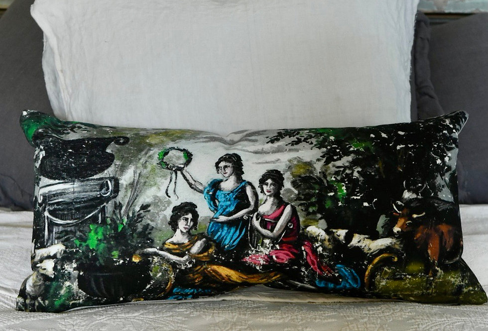 The Muses Canvas Pillow Cover