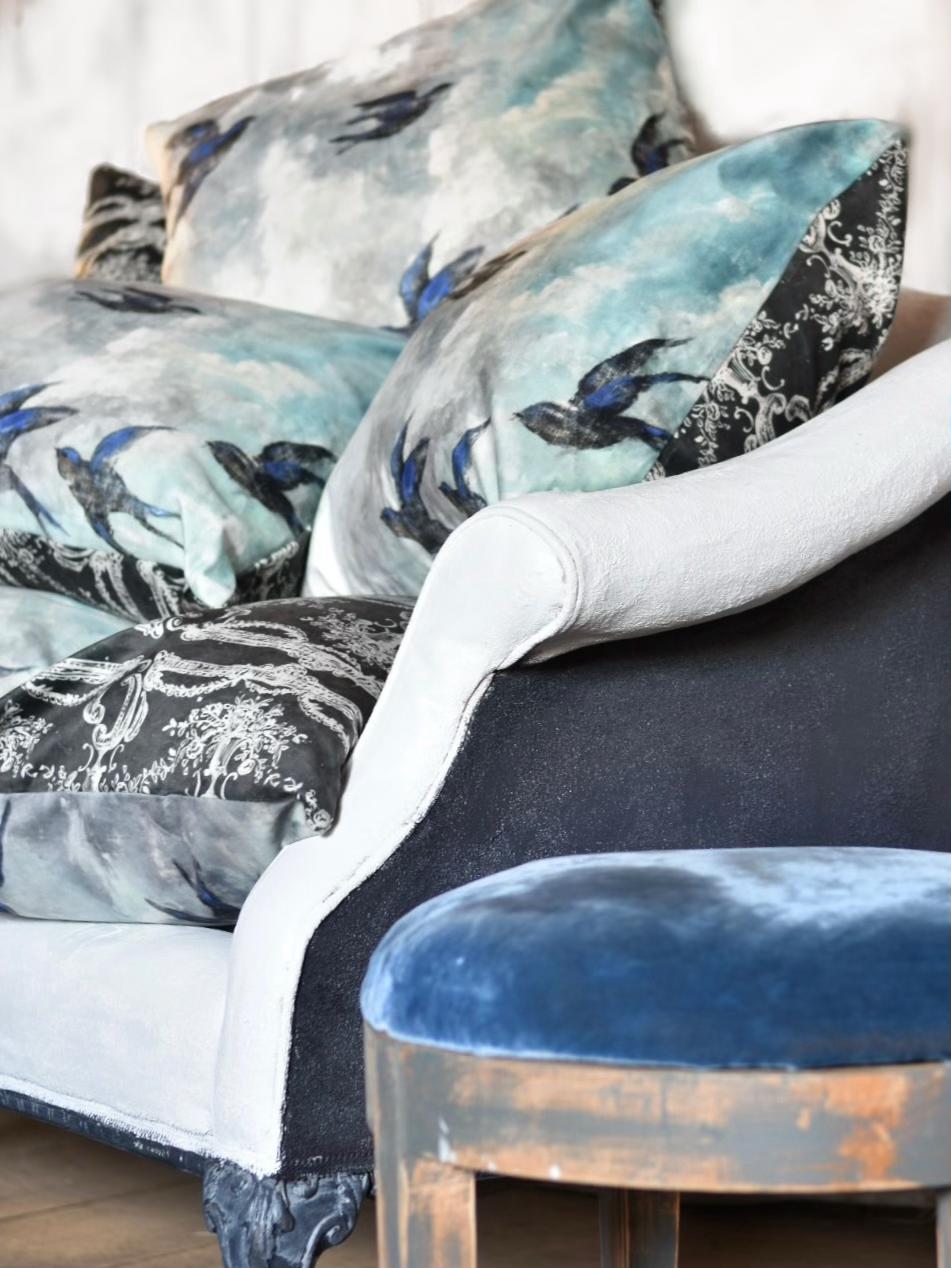 Jennifer Lanne velveteen pillows
