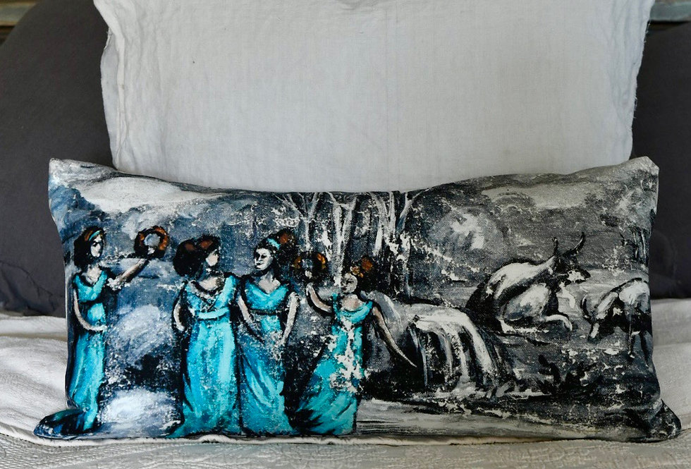 The Revelers Canvas Pillow Cover