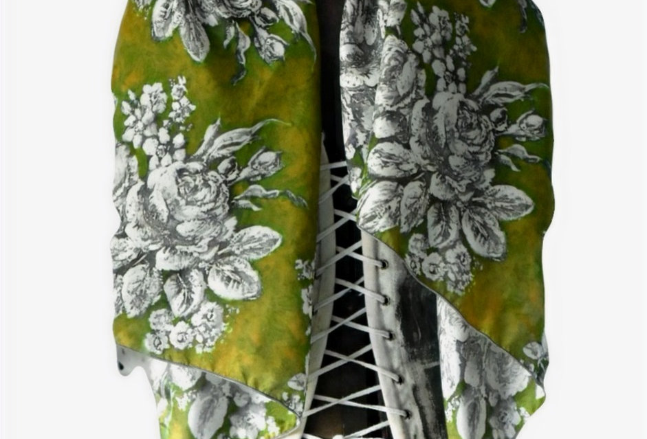 Moss Rose Silk Scarf