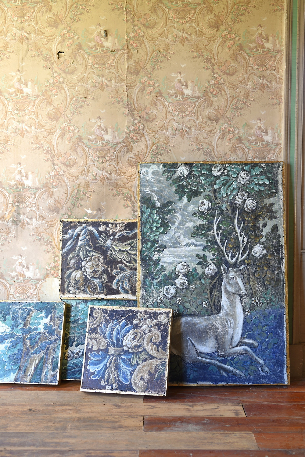 Jennifer Lanne artwork and paintings at the Dr. Oliver Bronson House Hudson, New York