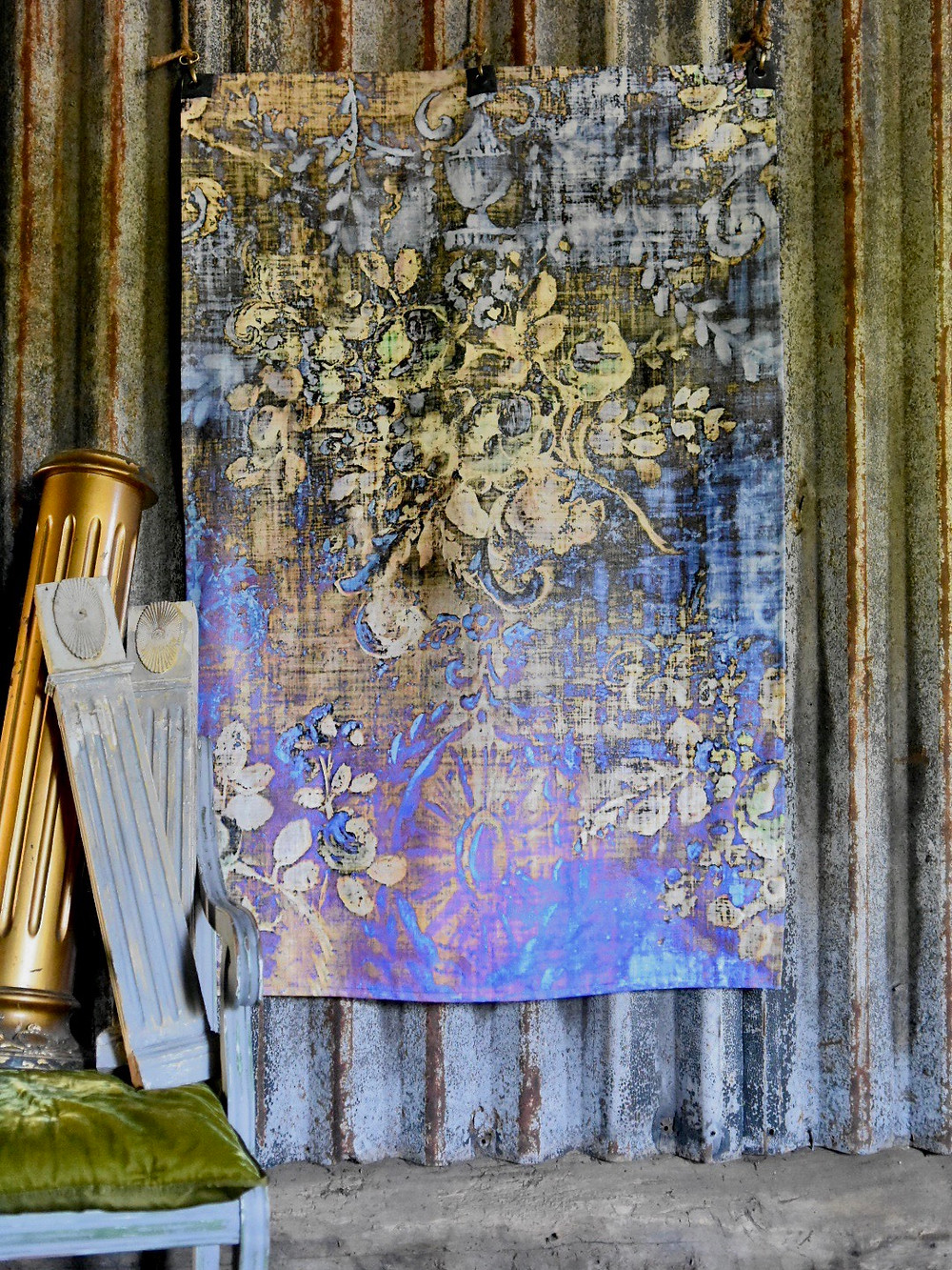 Jennifer Lanne printed backdrop artwork Decorum