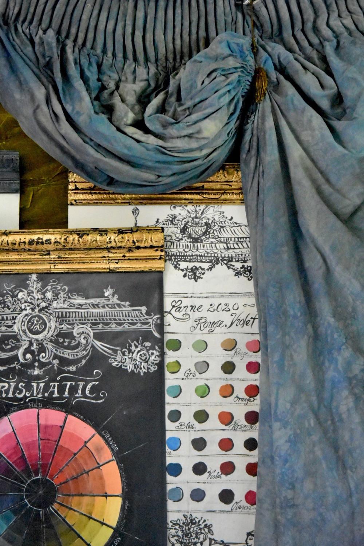Jennifer Lanne paint swatch charts. Jennifer Lanne artwork