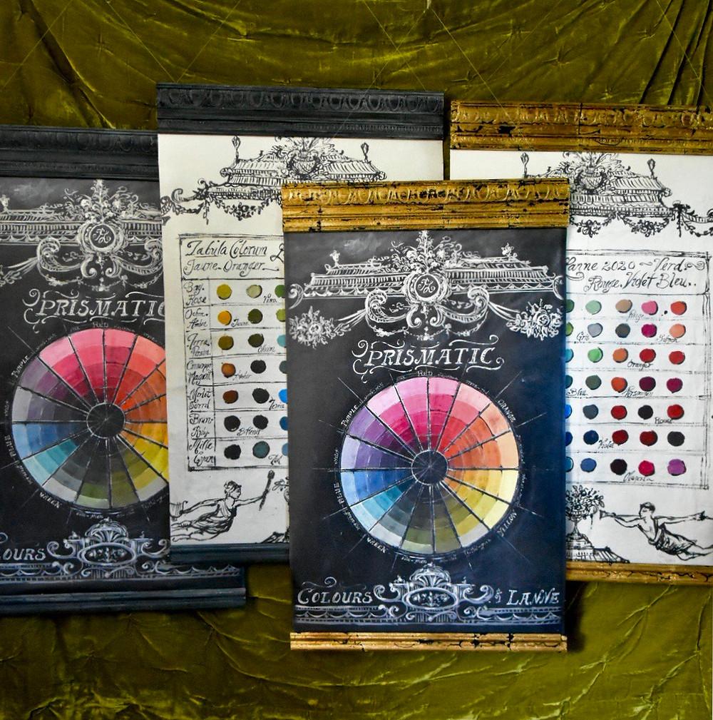 Artist Jennifer Lanne paint charts