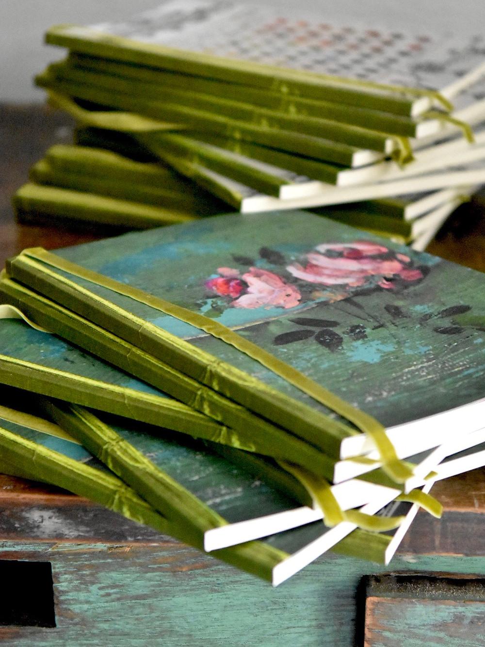 paperback journals by artist Jennifer Lanne