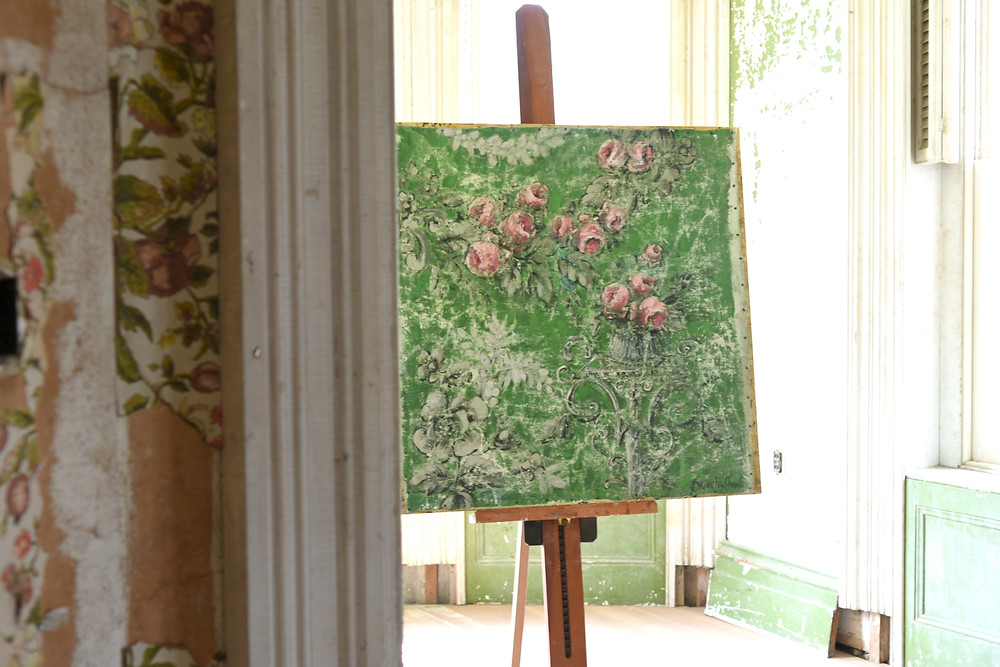 Artist Jennifer Lanne artwork and paintings at the Dr. Oliver Bronson House in Hudson, New York