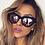 Thumbnail: Quay Matte Black and Pink Mirror Sunglasses
