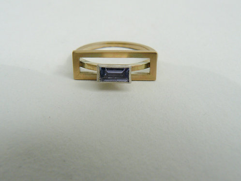 Tanzanite Framed Ring