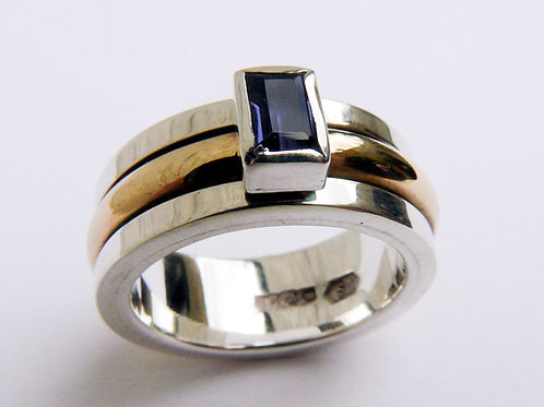 RectangularTanzanite Spinning Ring