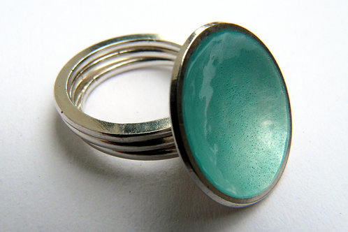 Dewdrop Triple-band Ring