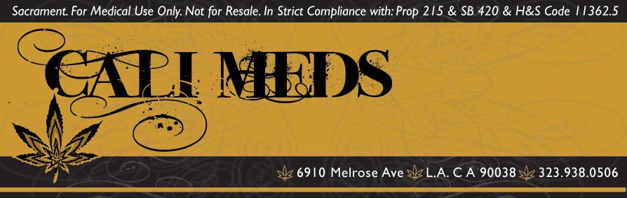 Cali Meds Medicine Label