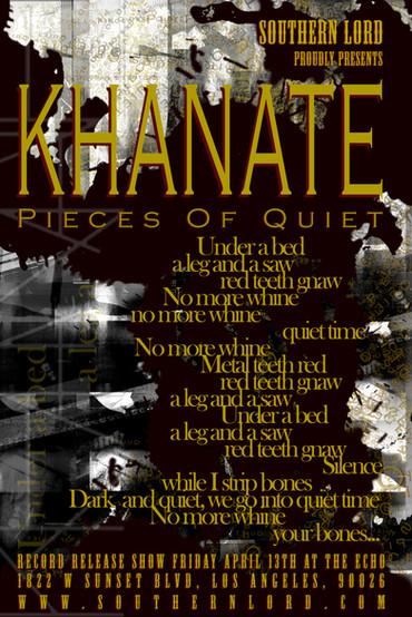 KHANATE Lyric Poster, Final