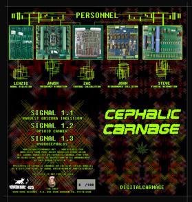 "Cephalic Carnage ""Digital Carnage"" 3"" CD packaging"