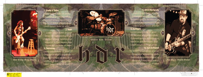 H.D.R. - CD Layout.