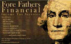 Fore Father Financial Business Card