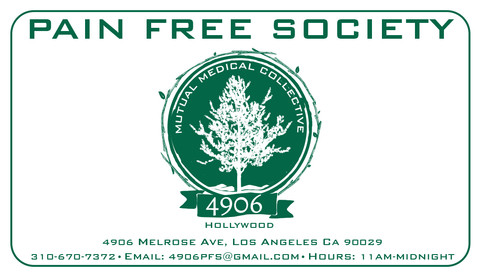 Pain Free Society Business Card (Front)