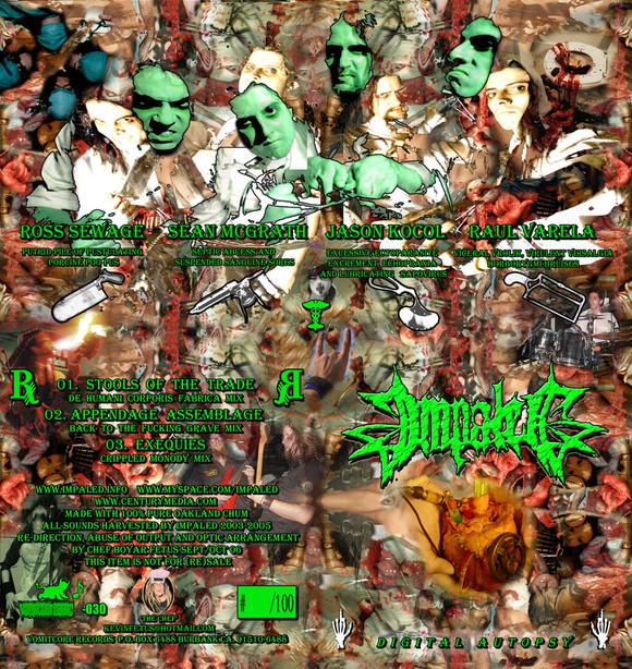 "Impaled ""Digital Autopsy"" 3"" CD packaging"