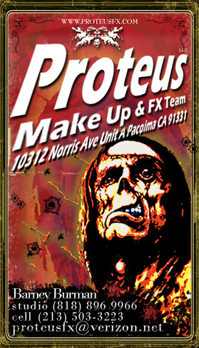 Proteus Make Up and FX Business Card