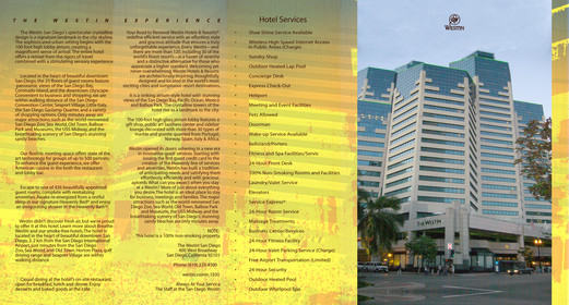 THE WESTIN Hotel Brochure - Inside Pages (4 and 5).