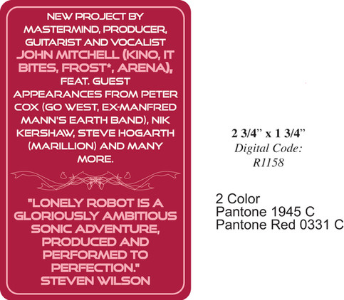 Lonely Robot promo sticker